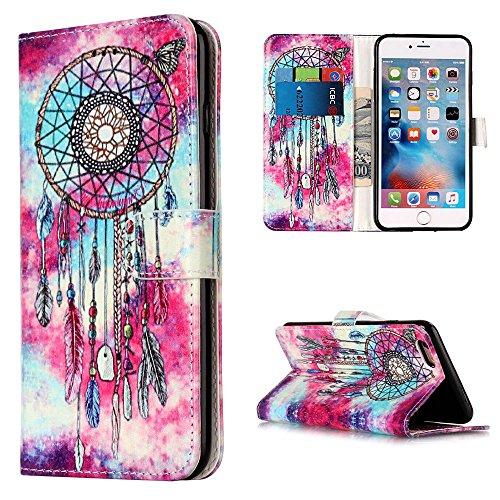 "MOONCASE iPhone 6 Plus/iPhone 6s Plus Hülle, [Colorful Pattern] Stoßfest Ganzkörper Schutzhülle mit Ständer Leder Handytasche Case für iPhone 6s Plus 5.5"" White Chimes"