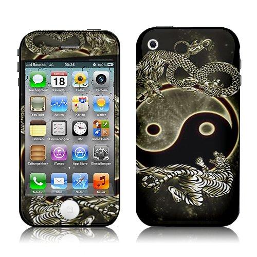 Xtra-Funky Hülle Kompatibel mit iPhone 3G / 3GS, Yin Yang Dragon & Tiger Design Modische Schutzabziehbild-Hautabdeckung Vinyl-Aufkleber