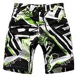 Echinodon Jungen Badeshort Sweatshorts mit Print Badehose Strand Shorts Beachshorts B-Grün