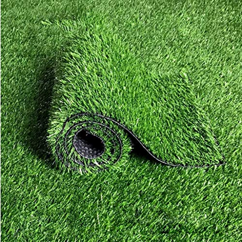YUER 25mm Pile Höhe Putting Green Kunstrasen, Günstige natürliche & realistisch aussehende Astro Garten Rasen, High Density Fake Turf, Höhe 0,5 m * 2 m (Size : 2mx1m)