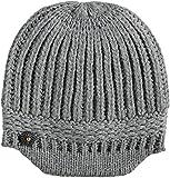FRAAS Damen Strickmütze 625076, Grau (Light Grey 950), One Size