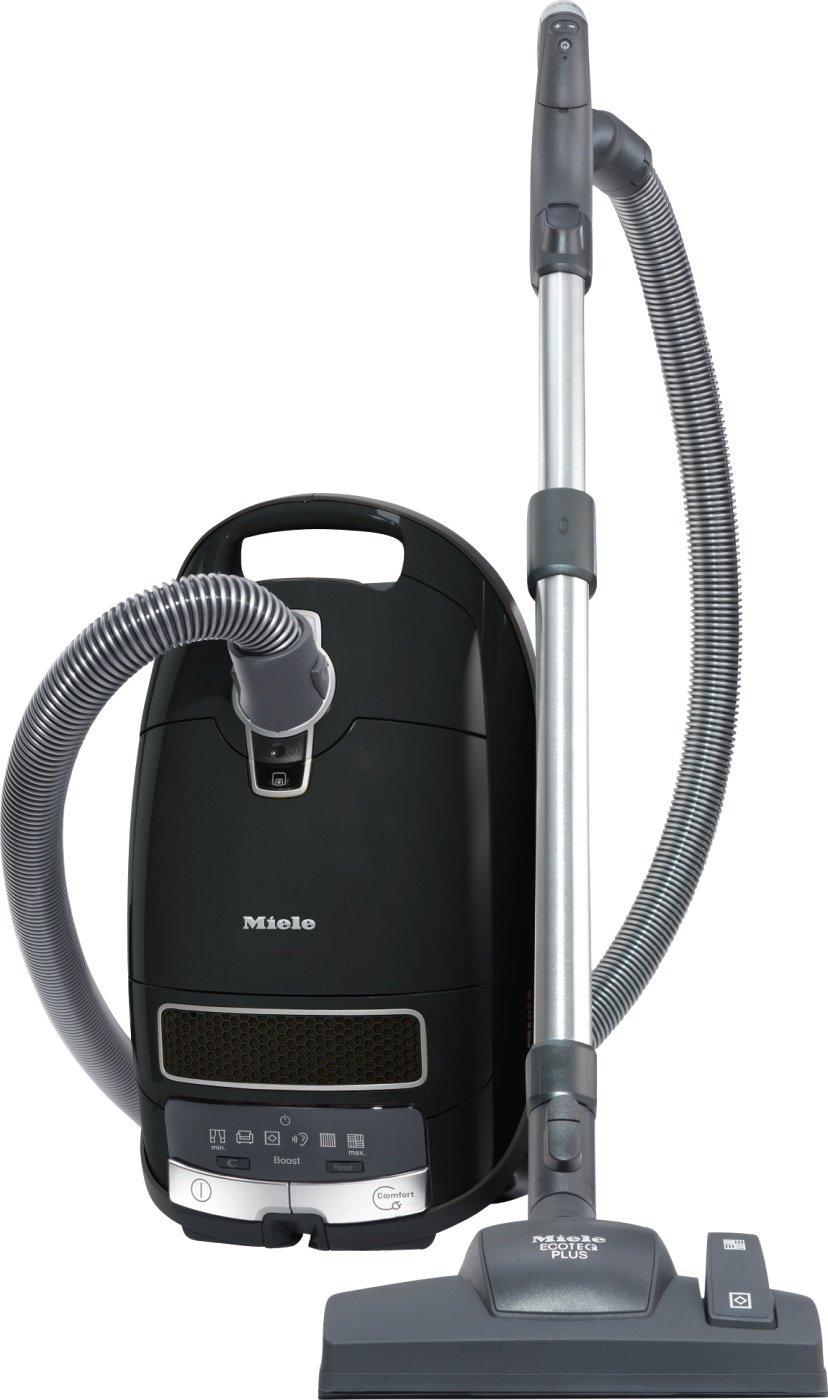 Miele Complete C3 Comfort EcoLine Bodenstaubsauger (mit Beutel, 4,5 Liter Staubbeutelvolumen, 550 Watt, 12 m Aktionsradius, HEPA Filter für Allergiker) schwarz