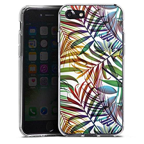 Apple iPhone X Silikon Hülle Case Schutzhülle Palme Blätter dschungel Silikon Case transparent