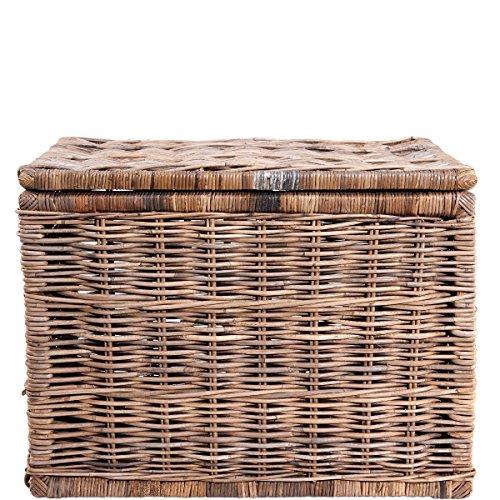 Butlers LE HAVRE Rattan-Truhe Aufbewahrungs-Box mit Deckel Aufbewahrung Kiste Korb Truhe (Butler Korb)