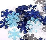 100 x 30 mm, Frozen blau, Schneeflocken, mit Glitzer, für Geschenke, Bastelarbeiten