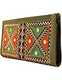Craft Trade Handmade Designer Embroiderey Rajasthani Clutch Bags For Women