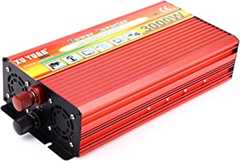 Zorbes XUYUAN 3000W Solar Car Power Inverter DC 24V to AC 220V Modified Sine Wave Vehicle Mounted Charger