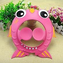 IBalody Shampoo Cap Baby Bath Gorro de Ducha Ajustable Goldfish Protección para los Oídos Gorro de