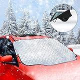 AUKLION Frontscheibenabdeckung Auto für Winter, Windschutzscheibe Abdeckung Magnet Faltbare Abnehmbare Abdeckung für die Scheibenabdeckung gegen Schnee, EIS, Frost und Sonne(58