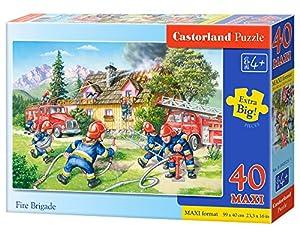 Castorland Fire Brigade 40 Maxi pcs Puzzle - Rompecabezas (Puzzle Rompecabezas, Dibujos, Niños, Niño/niña, 4 año(s), Interior)