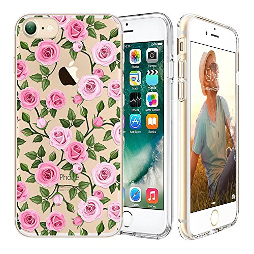 iPhone 7 Hülle, iPhone 7 Invisible Hülle, Richoose iPhone 7 [Slim Fit] Freie weiche TPU Gel-Gummi [Kratzer beständig] Silikon-Schutzhülle, Crystal Clear Bumper Case, buntes Muster Design Netter Drucke L