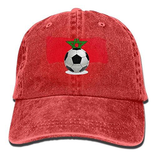 Aeykis Balón de fútbol para Hombres y Mujeres con Gorra de béisbol Vintage Jeans de Marruecos