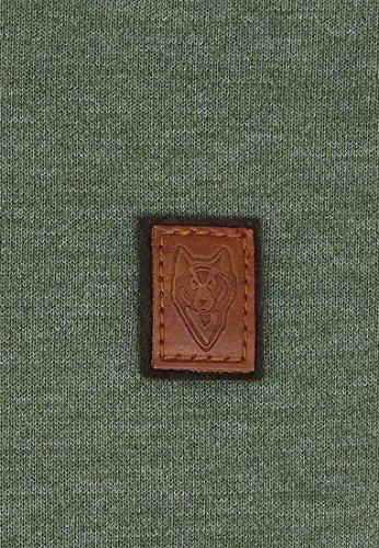Naketano Male Sweatshirt First Blood VI Heritage Pine Green Melange