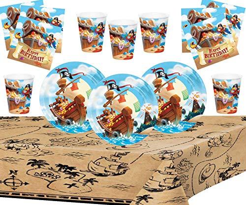 Pirate Treasure Party Supllies Suministros de Fiesta Pirata Cumpleaños Infantil Paquete de...