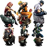 Naruto 6 Pcs Action Figure Doll Sasuke G...