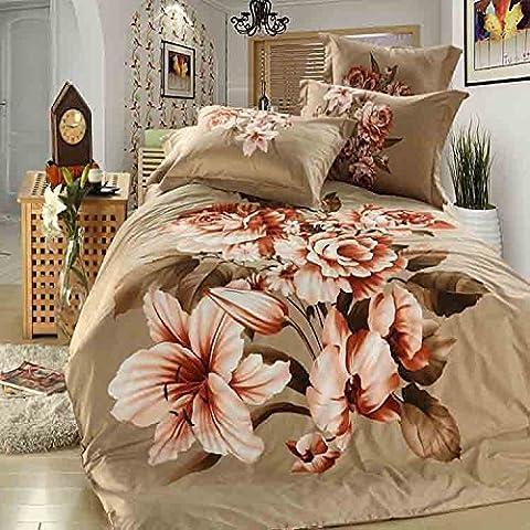 LLYY-Algodón textil algodón 3D americano cuatro piezas Suite 1.8 metros cama novia colcha sabana , picture 5 , 250*250CM