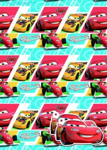 Image of Disney Cars Gift Wrap 2 sheets & 2 tags