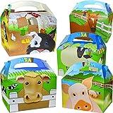 German Trendseller® - 12 x Party Boxen Tiere mit Griff zum Befüllen ┃ Viele Tiere ┃ Kindergeburtstag ┃ 12 Mitgebsel Überraschungsboxen