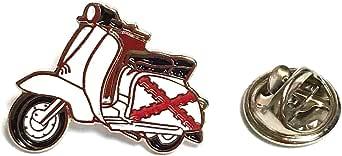 Spilla per vestito Vespa Lambretta Aspa Borgogna | Spille regalo originali | Per camicie, vestiti o per il tuo zaino | Regali unici e speciali