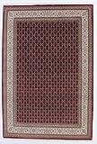 Nain Trading Indo Täbriz Royal 295x199 Orientteppich Teppich Grau/Dunkelbraun Handgeknüpft Indien