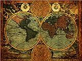 Poster 40 x 30 cm: Welt 1716 von Michaels Antike Weltkarten - Hochwertiger Kunstdruck, Kunstposter