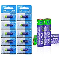 10 Pack 27A 12V A27 MN27 VR27 L828 12V Alkaline Battery High Capacity 25mAh for Cameras, Car Alarm Remotes, Burglar Alarms, Cigarette Lighters, Electronic Dog Collars