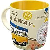Nostalgic-Art - Volkswagen Retro koffiemok - VW Bulli T1 - Let's Get Away, grote licentiemok als vintage VW bus cadeau-idee,