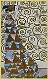 Bild mit Rahmen Gustav Klimt - Die Erwartung - Holz gold, 52.0 x 86.0cm - Premiumqualität - Klassische Moderne, dekorativ, Jugendstil, Japonismus, Eros&People, Frau, Erwartung, Leb.. - MADE IN GERMANY - ART-GALERIE-SHOPde