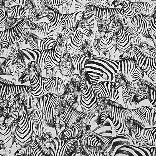Jacquard-stoff-tasche (Stoff Meterware Baumwolle Jacquard Zebra weiß schwarz beidseitig zu verwenden Dekostoff)