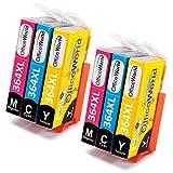 OfficeWorld Ersatz für HP 364 364XL Farbpatronen Hohe Kapazität Kompatibel mit HP OfficeJet 4620 4622, HP Photosmart 6520 5510 7510 5524 6510 5515 5520 C5380, HP Deskjet 3070A 3520 3524 3522