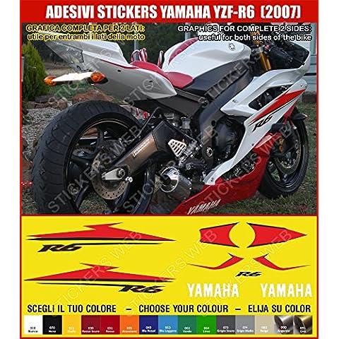 Yamaha YZF R6-Pegatina YZF R6 (2007) sticker kit para modelo 0382 incluye carcasa, diseño de corazón, color