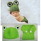 Baby Häkelkostüm Strick Kostüm Fotoshooting Baby Fotos Frosch Mütze+Hose