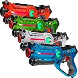 Light Battle Laser Tag Set: 4X Active Laserpistolen - Lasertag laserspiele für Kinder - LBAP1041234DP1