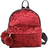 9086dfa7b9f44 Ansenesna Kleine Rucksäcke Für Mädchen Teenager Samt Vintage Elegant Taschen  Damen Freizeit Backpack Für Outdoor Reise