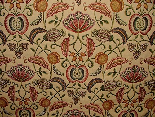 Pandoras 1m Appleby Manor Designer Jacquard Vorhang Polster Kissen Raffrollo Stoff (Chenille-gobelin-polster)