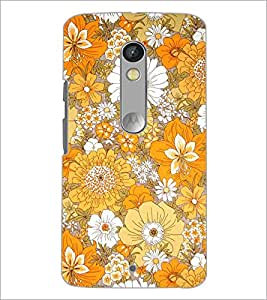 PrintDhaba Flowers D-2077 Back Case Cover for MOTOROLA MOTO X PLAY (Multi-Coloured)