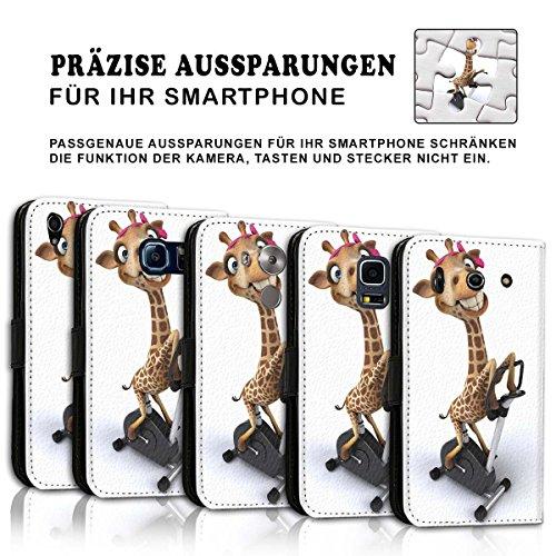 Wallet Book Style Flip Handy Tasche Case Schutz Hülle Schale Motiv Etui für Apple iPhone 6 / 6S - Variante UMV37 Design10 Design 12