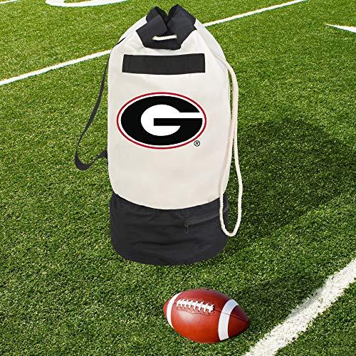 Smart Design Collegiate Robuste Reisetasche mit 2 Fächern, 38,1 x 76,2 cm, Segeltuch, Design der University of Georgia, offizielles Lizenzlogo - Schwarz und Rot - [Georgia Bulldogs] -