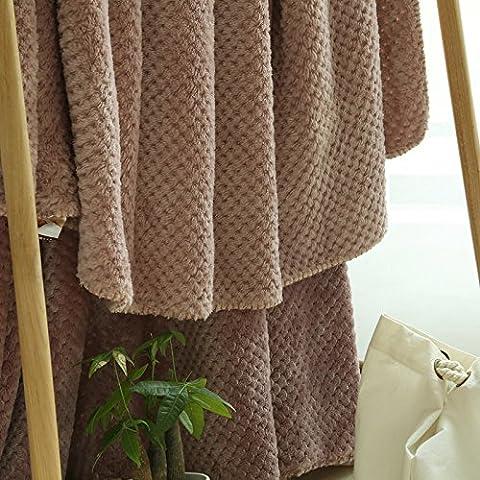 BDUK Baby-plaid in pile di colore puro faller tappeto di velluto Ufficio giapponese del corallo pisolino pomeridiano coperte di piccole aree salotto e il solito zongzi 150x200cm colore