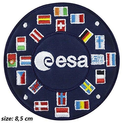 Patch, Aufnäher bestickt Bügelbild,, Esa European Space Agency NASA,,