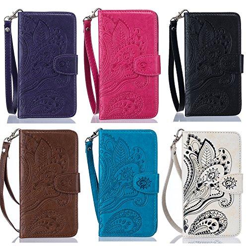 PU für Apple iPhone 6 Plus (5.5 Zoll) Hülle,Geprägte Campanula Handyhülle / Tasche / Cover / Case für das Apple iPhone 6 Plus (5.5 Zoll) PU Leder Flip Cover Leder Hülle Kunstleder Folio Schutzhülle Wa 2