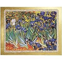 "Ars Martos Reproduction Art ""Iris"" Fresco on Plaster Width 50 cm Height 40 cm"