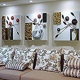 Salon de Salon Moderne Simple Fond de Mur Peinture de Décoration Peinture en Relief en Trois Dimensions en Trois Dimensions Peintures Murales,Or,60 * 60cm