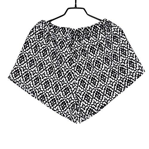 Cravate de gland dimpression décontractée féminine Tribal Beach Shorts Noir