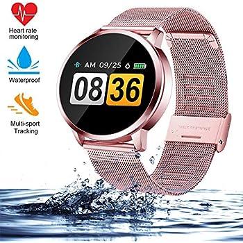 Reloj inteligente Q8 (completamente nuevo), para hombres y mujeres ...