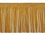 Ribete de flecos Chainette de 10cm, estilo # CF04,color doradoC4, se vende por yarda
