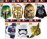 Star Wars Maskenpack mit 7 Masken / ( Gesichtsmaske aus hochwertigem Karton mit Augenlöchern und Gummiband )