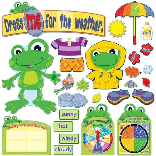 Funky Frog Weather Bulletin Board Set (Museum Board)