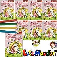 12 mini Malbuch Set mit Sticker Malbücher Kindergeburtstag Tombola Mitgebsel giv
