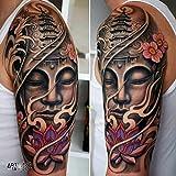 Tatuaggio Temporaneo Realistico di artista 'Buddha Color 1' - ArtWear Tattoo - B9995 M